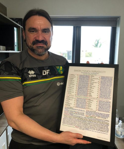 Daniel-Farke Norwich City Manager -a reminder of how high to aim